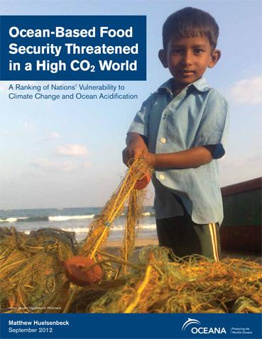"""Clique aqui para baixar o relatório """"Ocean-Based Food Security Threatened in a High CO2 World"""""""