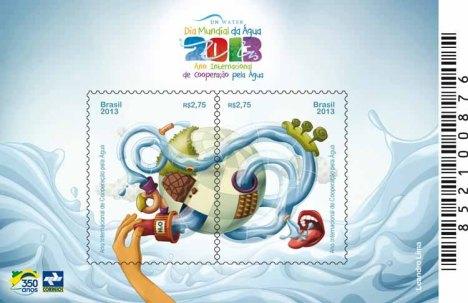 Arte do selo lançado em Frutal